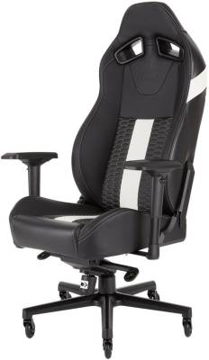 CF-9010007 Corsair T2 Road Warrior Black & White Gaming Chair