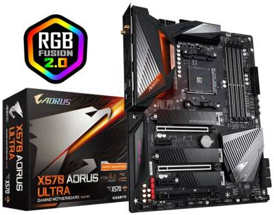 GA-X570-AORUS-ULTRA Gigabyte X570-Aorus Ultra AMD X570 Chipset Socket Ryzen AM4 Motherboard