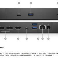 210-ARJD Dell 210-ARJD WD19TB Thunderbolt Dock with 180W AC