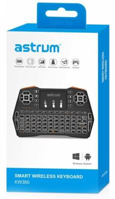 A81536-B Astrum KW360 Black Led Smart Wireless Keyboard