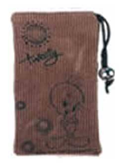 W5558-CP-LITBRW Tweety Cell phone Pouch: LIGHT BROWN, Retail Box