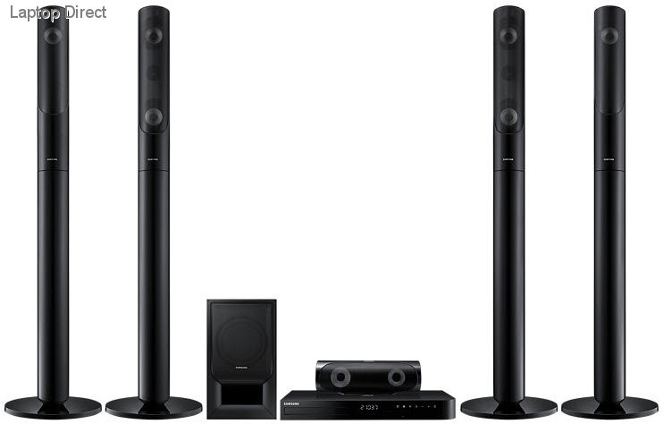 samsung home theater system. ht-j5550k/xa samsung j5550 5.1ch 1000w 3d blu-ray tallboy home theater system a