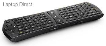 RT-MWK24 Rii ZW-51024 Black 2.4GHz Wireless mini QWERTY Keyboard and Fly mouse