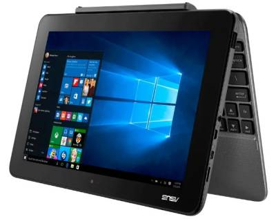 "NB-AT101-AQ2S Asus Transformer Book T101HA Detachable Notebook Atom Quad Core x5-Z8350 1.44Ghz 2GB 64GB 10.1"" WXGA IntelHD BT Win 10 Home"